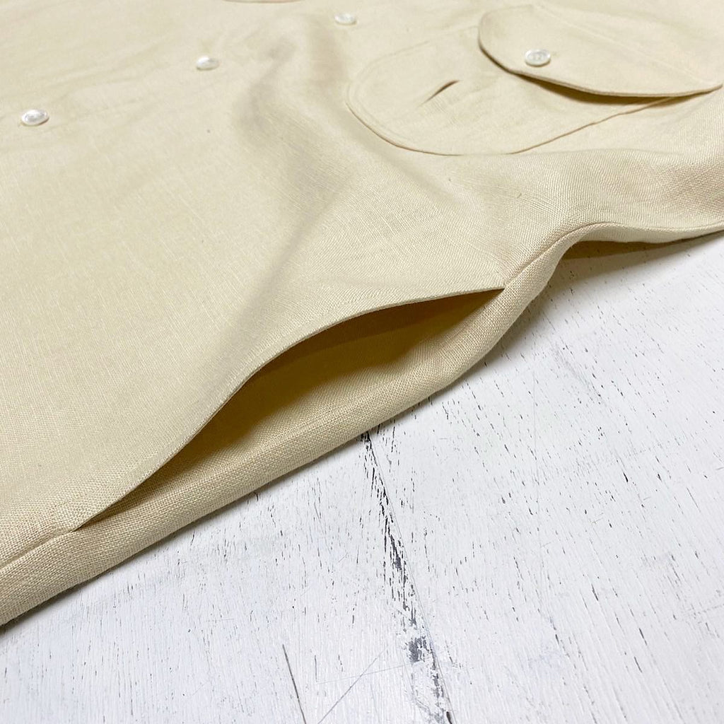 Butter Cream Medium Weight Linen Shacket