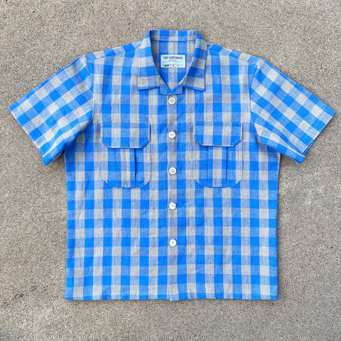 Periwinkle Picnic Plaid Cabin Camp Shirt