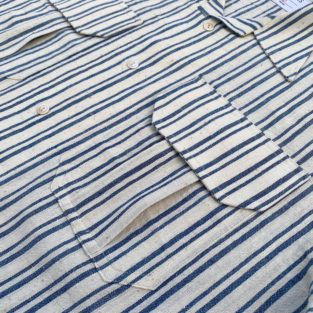 Kala Cotton Thick and Thin Striped Camp Shirt