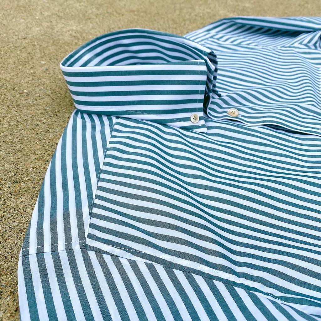 Zenith Stripe Hunter Green and White Flap Pocket