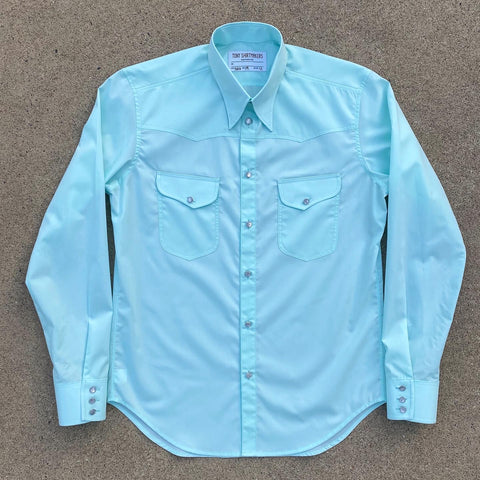 Pale Green Retro Inspired Western Shirt