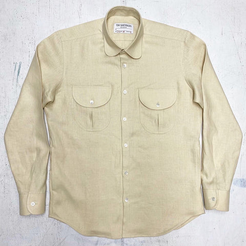 (Restock) Butter Cream Medium Weight Linen Shacket