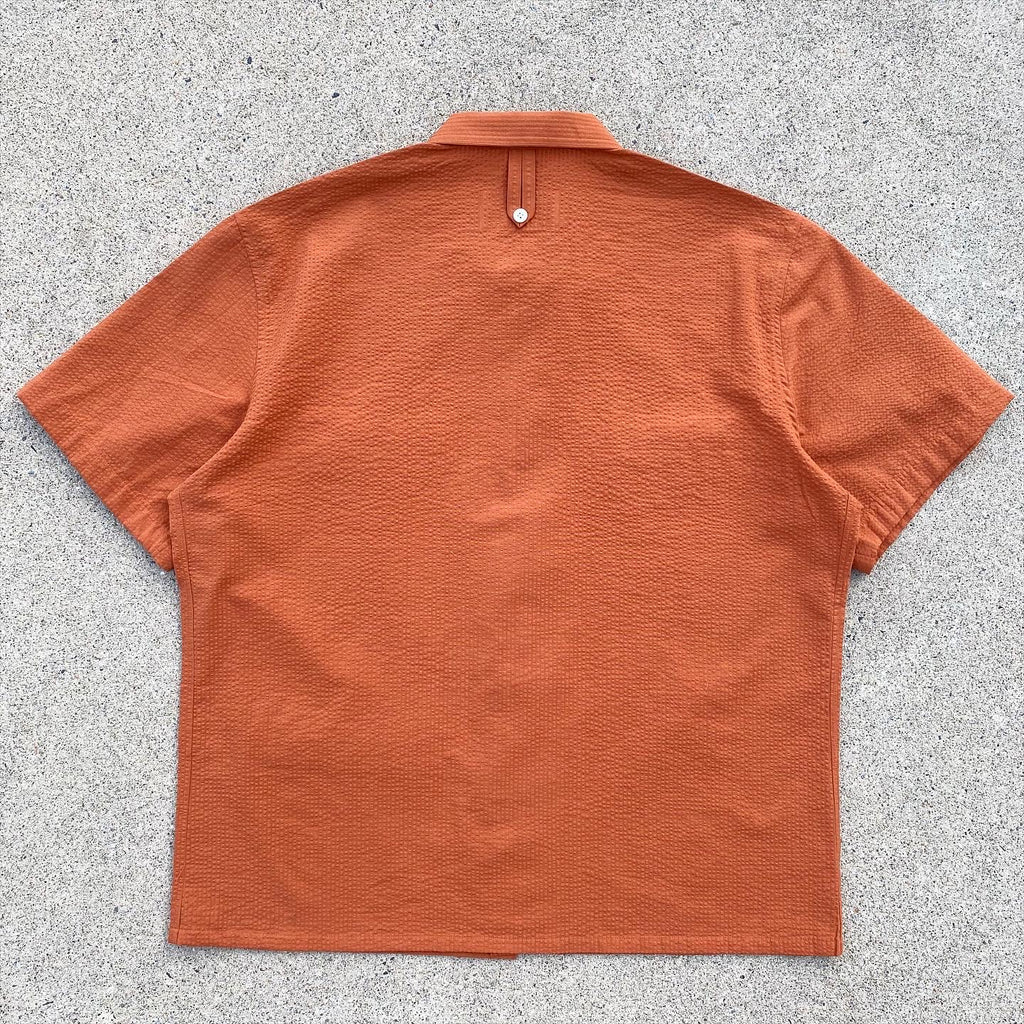 Japanese Tonal Seersucker Fly Fish & Hike Camp Shirt