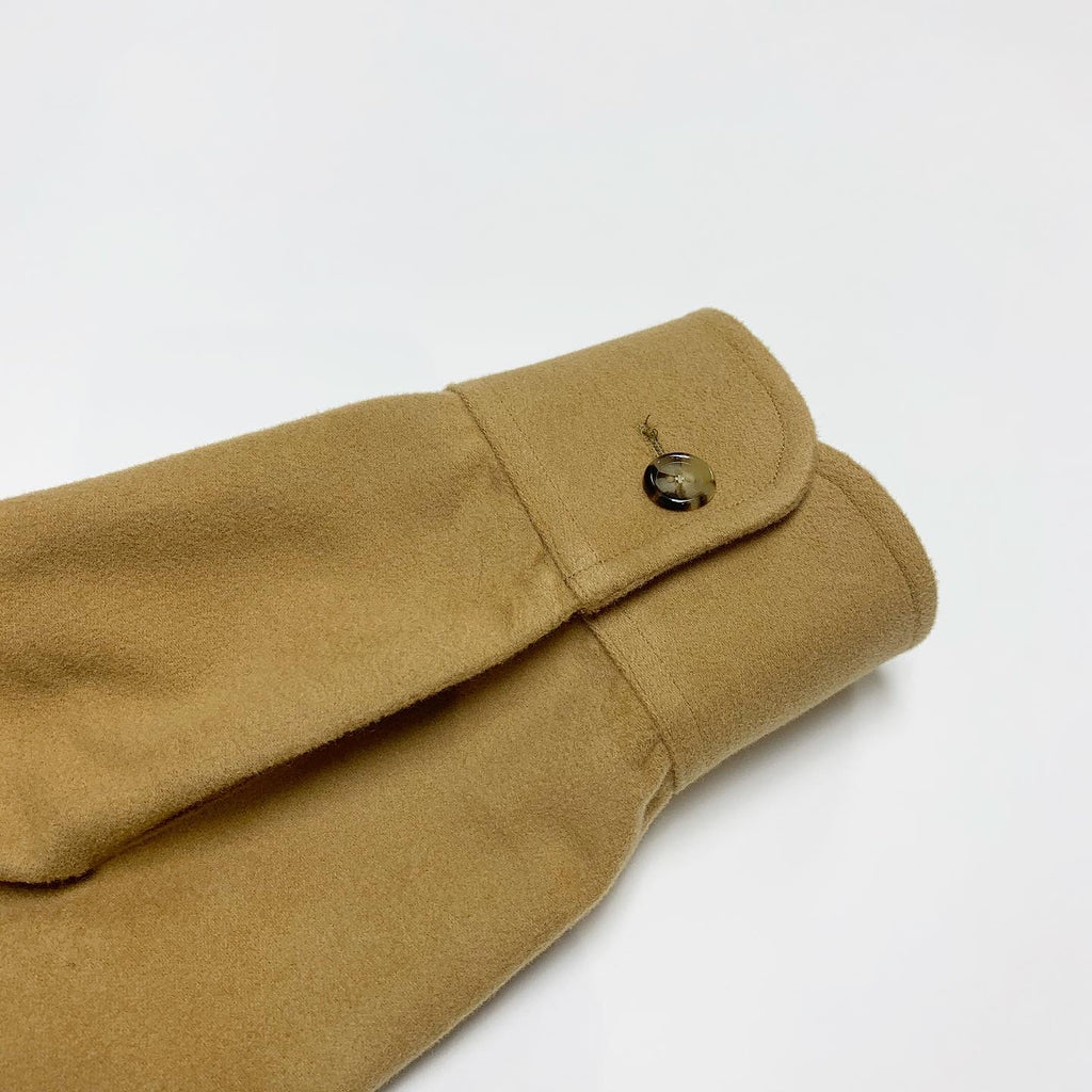 Camel Cotton Moleskin Double Flap Pockets