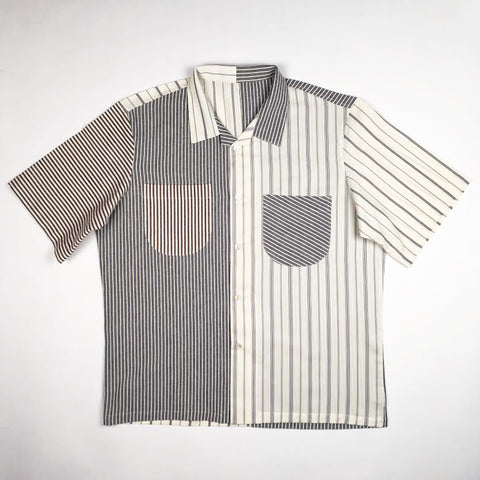 The Multi-Stripe Beach Shirt (High - Low - Pocket - One-Of-One)