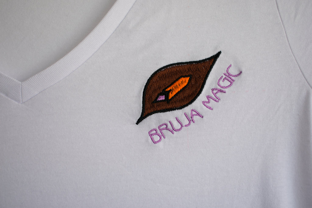 Organic Cotton Vulva Feminist Tee BRUJA MAGIC {white}