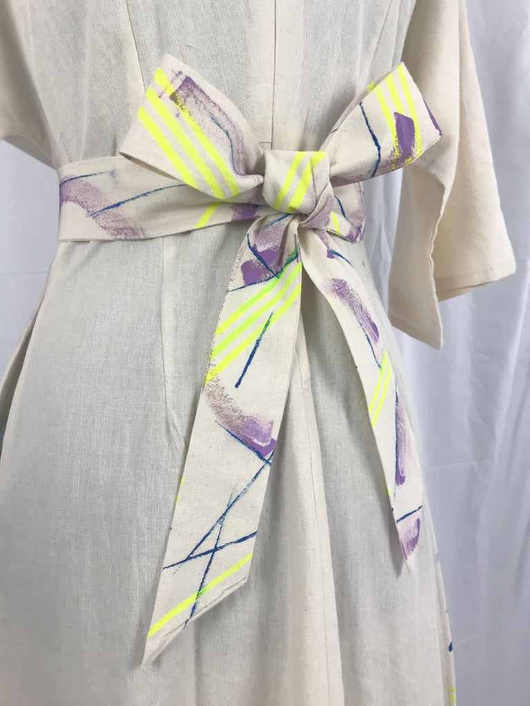 Kimono Style Hand Painted Pattern Dress {sample}