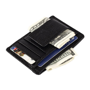 Mini Wallet with Money Clip and ID window