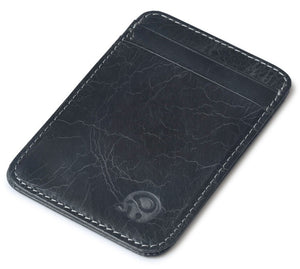 Retro Feel Thin Leather 5 pocket Wallet