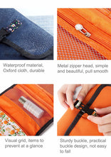 Load image into Gallery viewer, Hanging Toiletries Travel Organizer