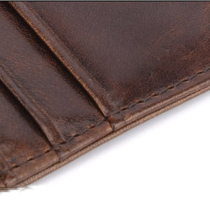 Genuine Leather Slim Card Holder - Wallet
