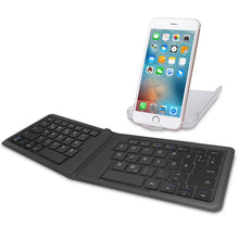 Load image into Gallery viewer, Ergonomic, Slim, Rechargeable, Fold-able Universal Bluetooth Keyboard