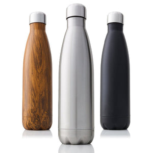 350/500/750/1000ml Double-Wall Insulated Vacuum Flask Stainless Steel Thermos
