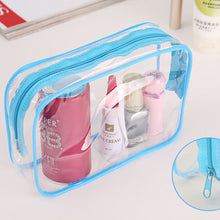 Load image into Gallery viewer, Transparent Plastic PVC Bag for Toiletries -  Clear for TSA