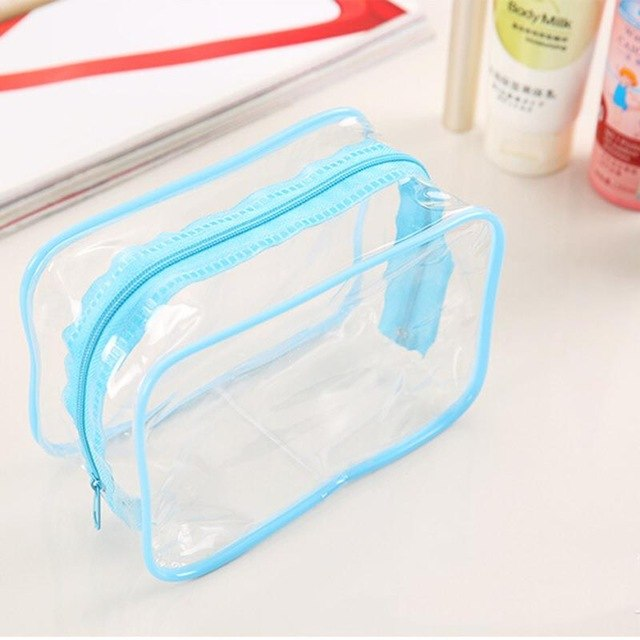 Transparent Plastic PVC Bag for Toiletries -  Clear for TSA