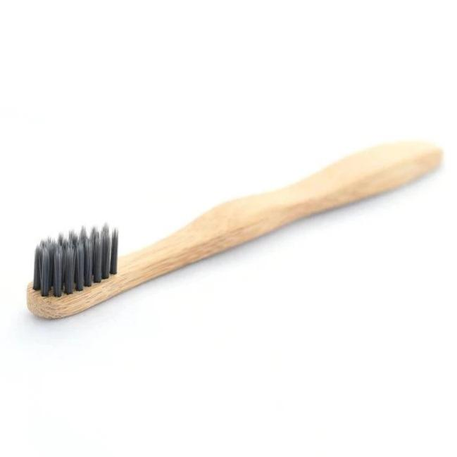 Kids Bamboo Toothbrush with Charcoal Infused Bristles