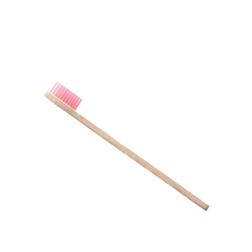 Toothbrush (Bamboo) with Pink Bristles