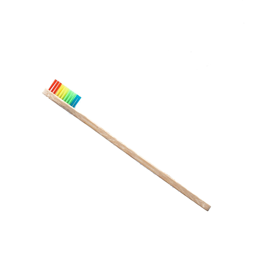 Bamboo Toothbrush with Rainbow Bristles