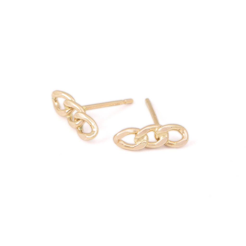 ONE SIX FIVE - Chain Stud Earrings - MAVEN
