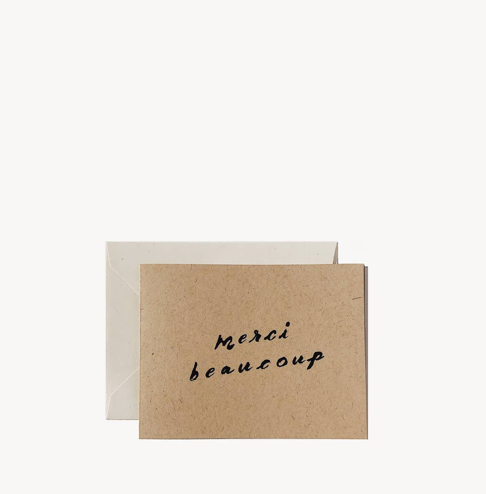 Wilde House Paper - Merci Beaucoup Card - Single - MAVEN
