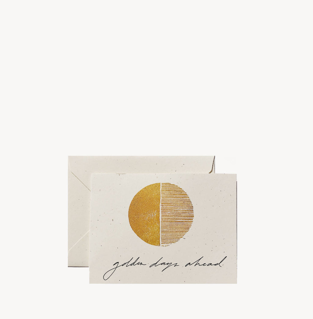 Wilde House Paper - Golden Days Ahead Card - Single - MAVEN