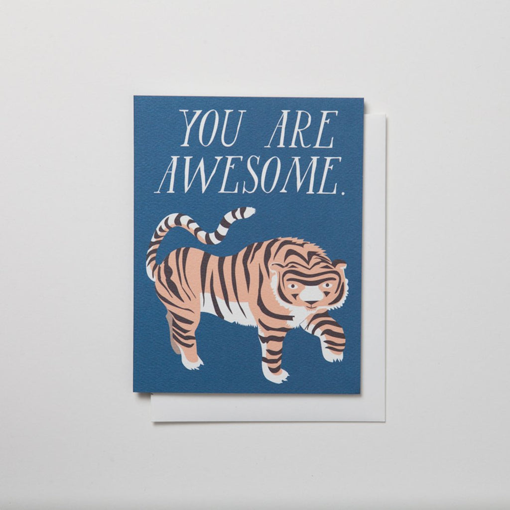 Banquet Workshop You Are Awesome With Tiger Note Card - MAVEN