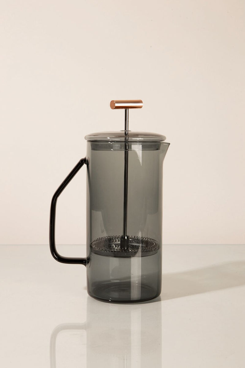 YIELD - Gray Glass French Press - MAVEN