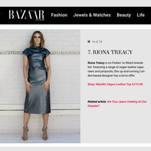 Harper's Bazaar featuring our vegan leather must haves