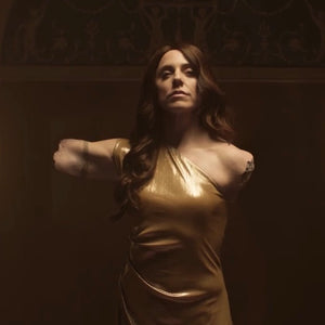 MELANIE C wears our Gold Asymmetric DRess in muisc video