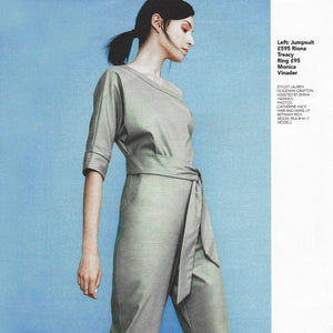 OK! Magazine editorial featuring our Vegan Leather Jumpsuit