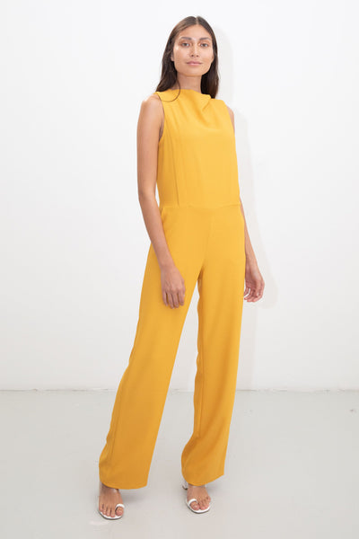 riona treacy yellow jumpsuit ss20