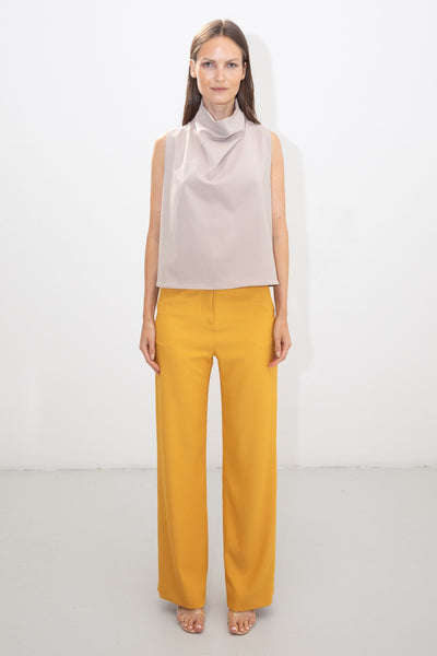 Yellow Trousers Nude Top Riona Treacy SS20