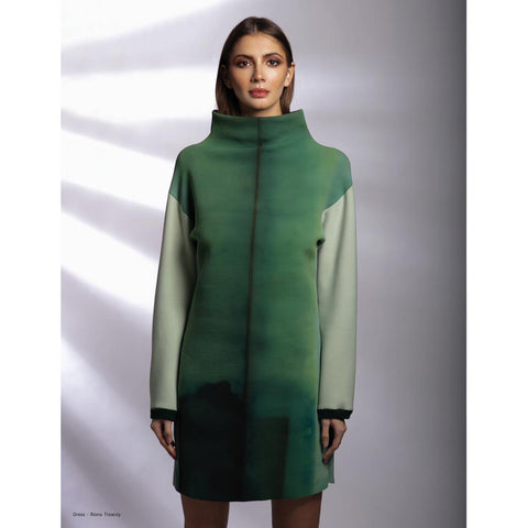 Riona Treacy Green Neoprene Jumper Dress
