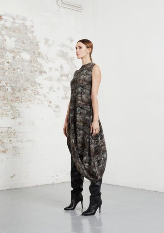 riona treacy shibori clan silk dress aw20