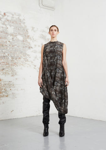 Riona Treacy Silk Shibori Clan Dress AW20