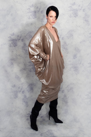 gold ghost dress riona treacy disco