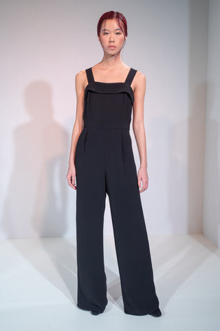 BLACK APRON JUMPSUIT
