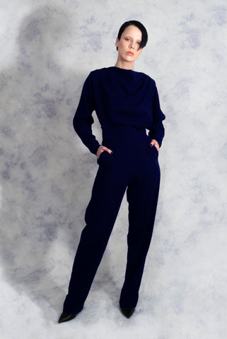 navy blue jumpsuit riona treacy