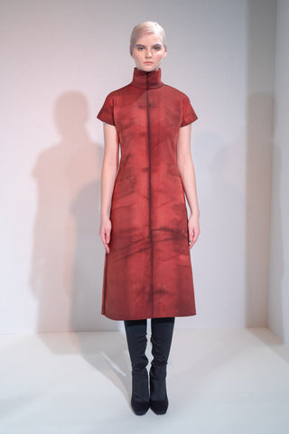 RED DRESS RIONA TREACY SHIBORI