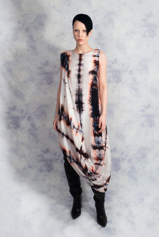 silk dress tie dye shibori riona treacy aw19