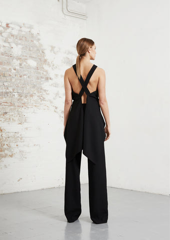riona treacy black tuxedo top trousers aw20