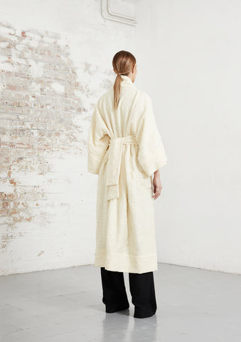 riona treacy ivory wool coat aw20