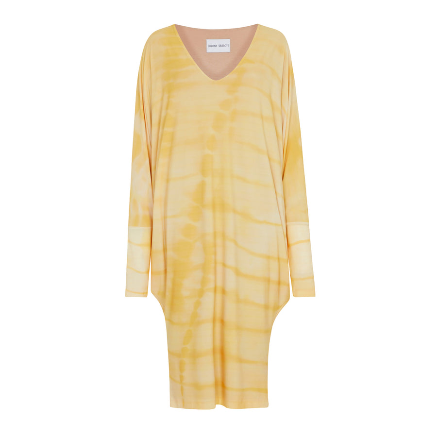 YELLOW SHIBORI STINGRAY DRESS