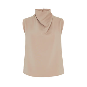 NUDE COWL NECK TOP