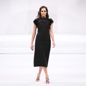 Black Wool Raven Dress