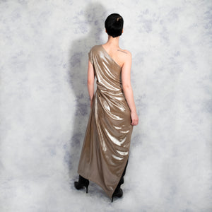 GOLD ASYMMETRIC DRESS