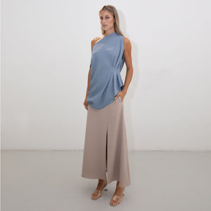 BLUE ASYMMETRIC RHOMBUS TOP