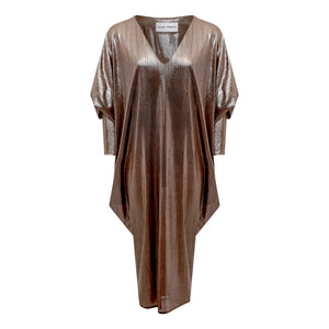 METALLIC DISCO DRESS COPPER