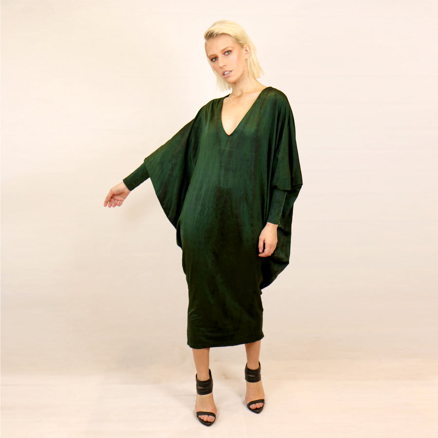 GREEN REVERSIBLE ALLIGATOR DRESS