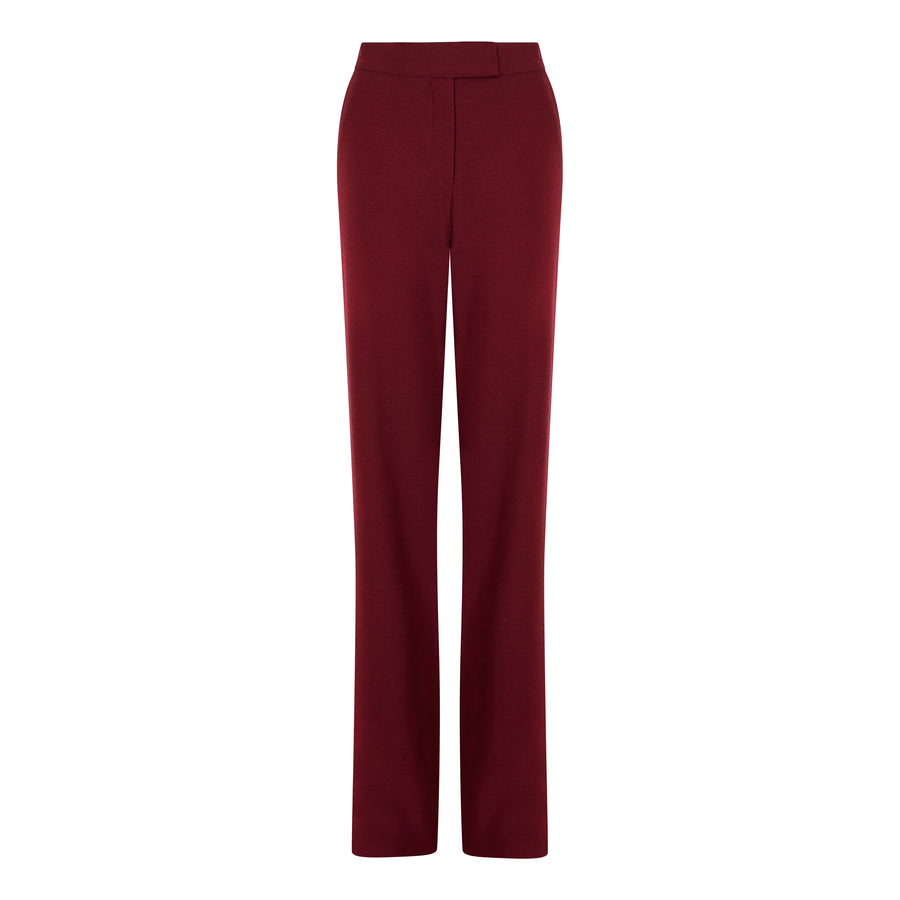 RED HIGH WAISTED TROUSERS